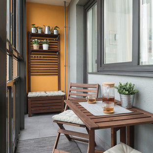 This is an example of a medium sized scandi terrace and balcony in Saint Petersburg.