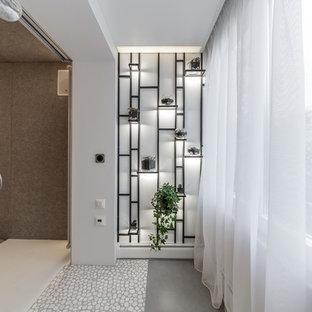 Inspiration för en funkis balkong, med en vertikal trädgård