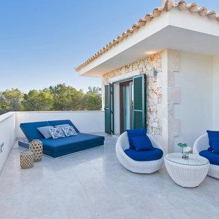 Новые идеи обустройства дома: балкон и лоджия в средиземноморском стиле без защиты от солнца