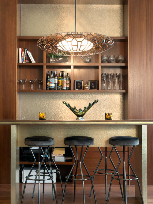 Transitional home bar design ideas remodels photos with - Barras de bar para casa ...
