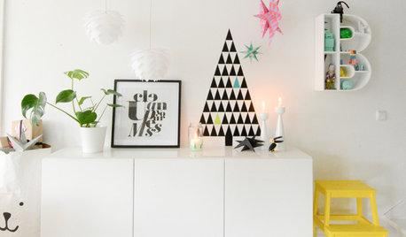 Skab en cool, grafisk jul med sort, hvidt og striber