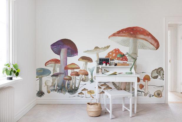 Mid-Century Kinderzimmer by Rebel Walls
