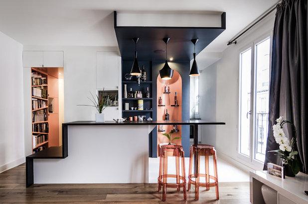 Contemporain Bar de Salon by Atelier mep