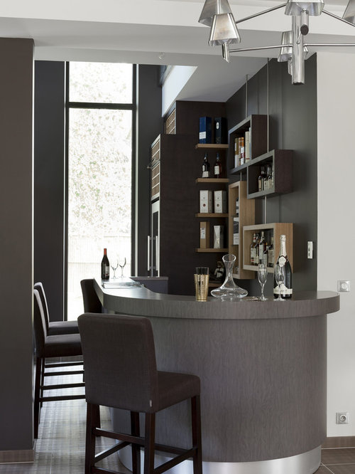 Bar salon idees amenagement deco accueil design et mobilier - Idee amenagement salon ...