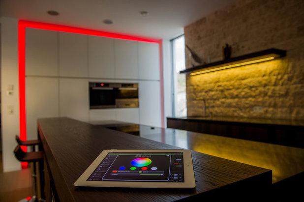 Contemporain Bar de Salon by iD4Home Ingénierie Domotique - Intégrateur Loxone
