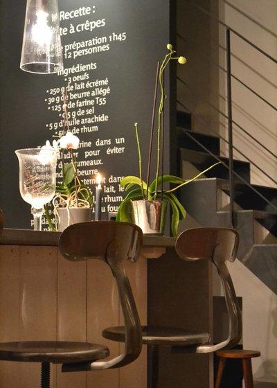 Contemporain Bar de Salon by Courants Libres