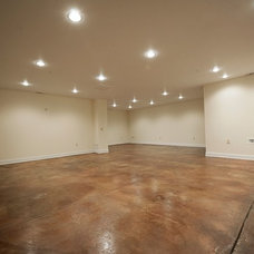 Contemporary Basement by Wilson Associates Real Estate