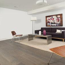 Modern Basement by Linebox Studio