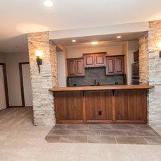 Transitional Basement by Wichita Area New Homes