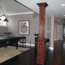 Traditional Basement by DoMolding.com