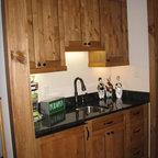 Barn Wood Kitchenette Rustic Basement Minneapolis