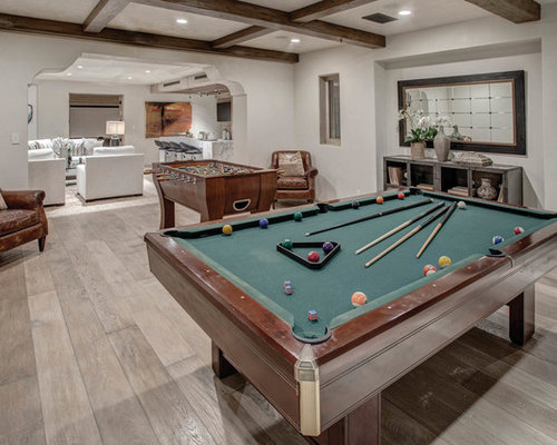 Basement flooring houzz for Mediterranean house plans with basement