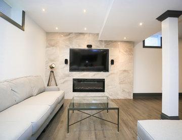 2000sqf basement renovation