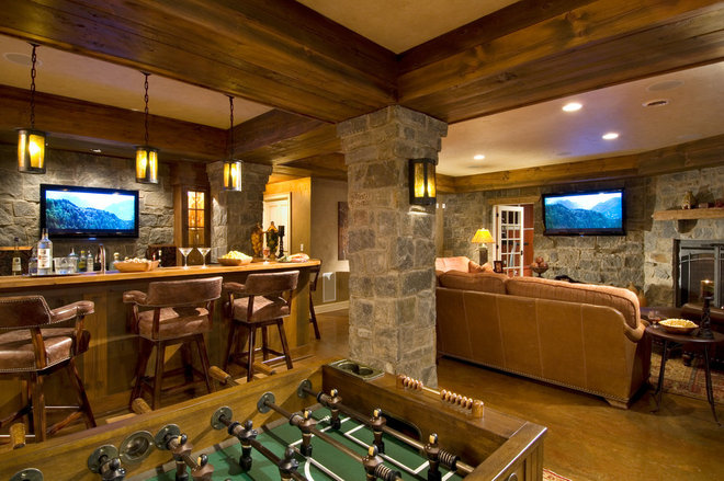 Traditional Basement by Witt Construction