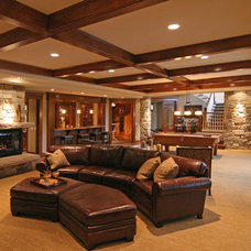 Contemporary Basement by Charles Cudd De Novo, LLC