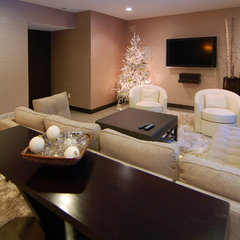 modern basement by Kaufman Construction Design and Build