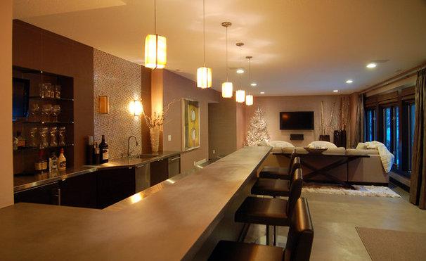 Modern Basement by Kaufman Construction Design and Build