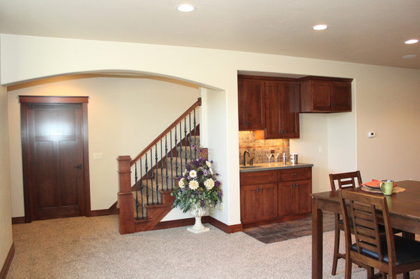 Traditional Basement by Rautmann Custom Homes