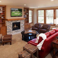 Traditional Basement by BohLand Homes