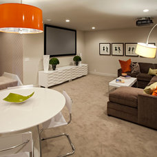 Contemporary Basement by Homes by Tradition