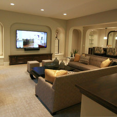 Traditional Basement by Charles Cudd De Novo, LLC