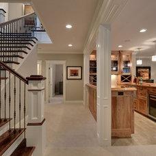 Traditional Basement by TC Homebuilders Inc