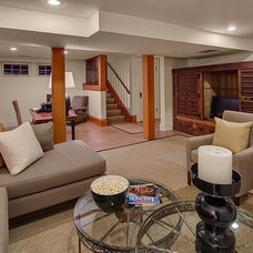 Traditional Basement by Rosichelli | Design