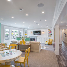 Transitional Basement by Joe Carrick Design - Custom Home Design