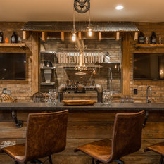 best 20 rustic basement ideas | houzz