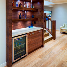modern basement by Cedarglen Homes