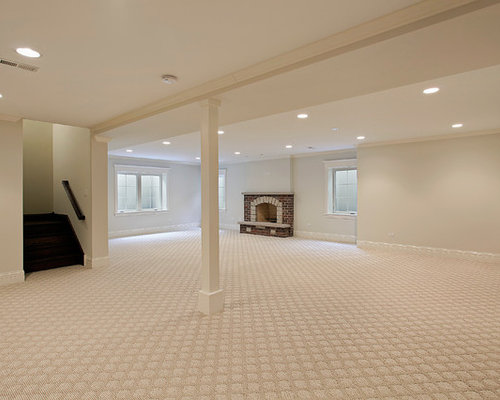 Basement carpet houzz for Best carpet for basement family room