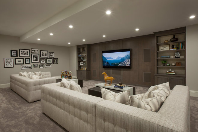 Transitional Basement by Michael Abraham Architecture
