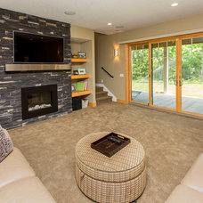 Contemporary Basement by Homes by DePhillips