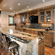 Traditional Basement by Pinnacle Mountain Homes