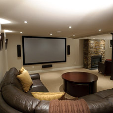 Contemporary Basement by Just Basements