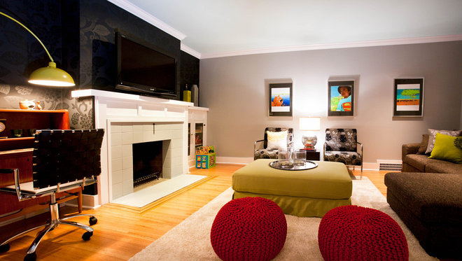 Contemporary Basement by A Good Chick To Know