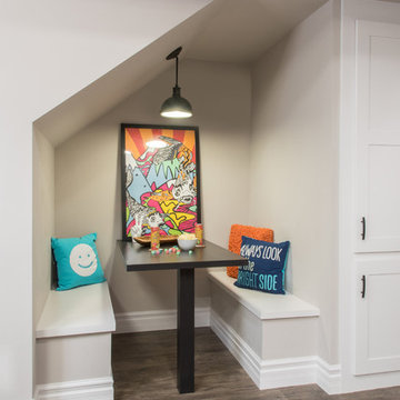 A Transitional Basement for Entertaining + Play