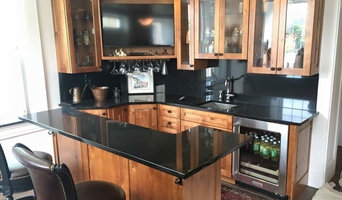 Absolute Black Granite Basement Bar