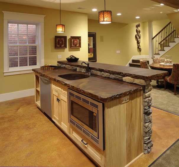 Traditional Basement by Weaver Custom Homes