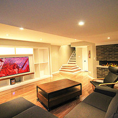 contemporary basement by Simple Solutions Renovations