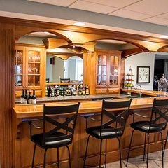 traditional basement by T. J. Shannon Construction