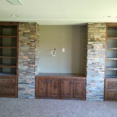 Traditional Basement by Great Woods Cabinetry