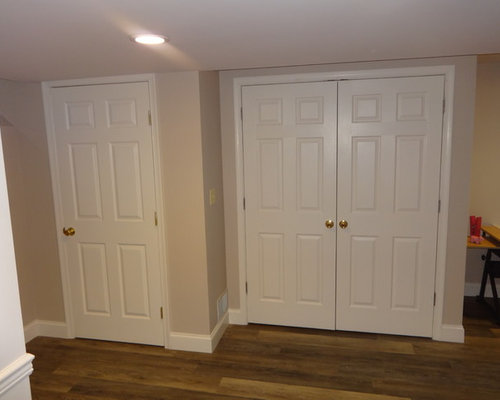 Double entry doors basement design ideas renovations photos for Basement double door