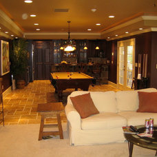 Traditional Basement by Infinite Home