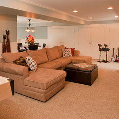 traditional basement by Blackdog Design Build Remodel