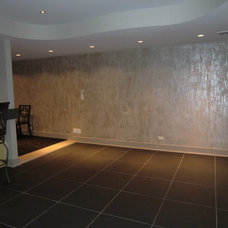 Contemporary Basement by Ann Art Faux Finishes
