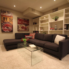 Contemporary Basement by ALLDECOR Home Staging & Design