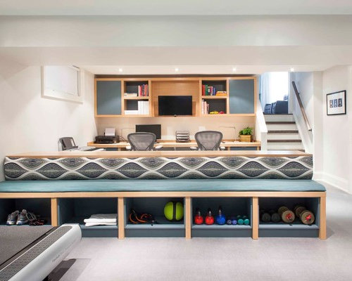 Basement Office Design Property basement home office | houzz