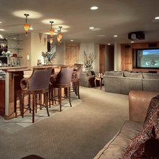 Contemporary Basement by Architectural Designs
