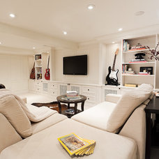 Contemporary Basement by Melanie Rebane Photography